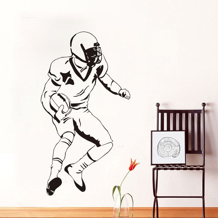 Best American Art Decals Football Player Rugby Sports 400 x 300