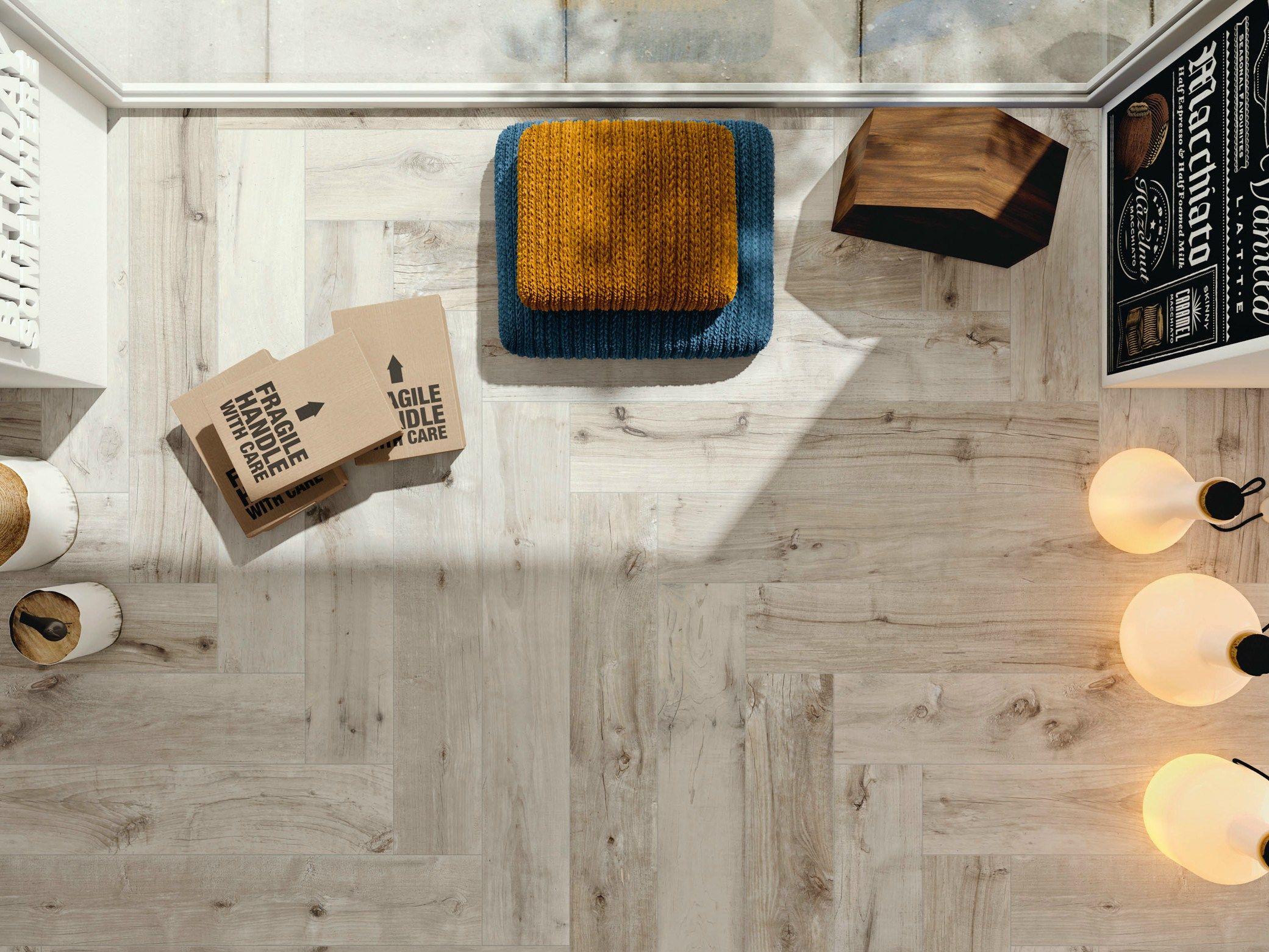 Revestimiento de pared/suelo de gres porcelánico imitación madera ...