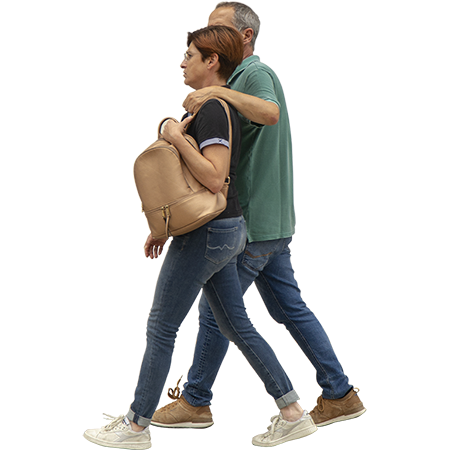This Couple Would Love To Be Walking Through Your Rendering Or Sketchup Model Right Now People Cutout People Walking Png People Png