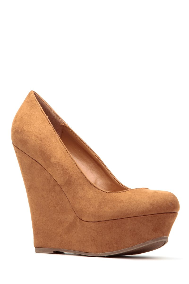 1f1f67848ef Tan Faux Suede Platform Wedge Pumps   Cicihot Wedges Shoes Store Wedge Shoes