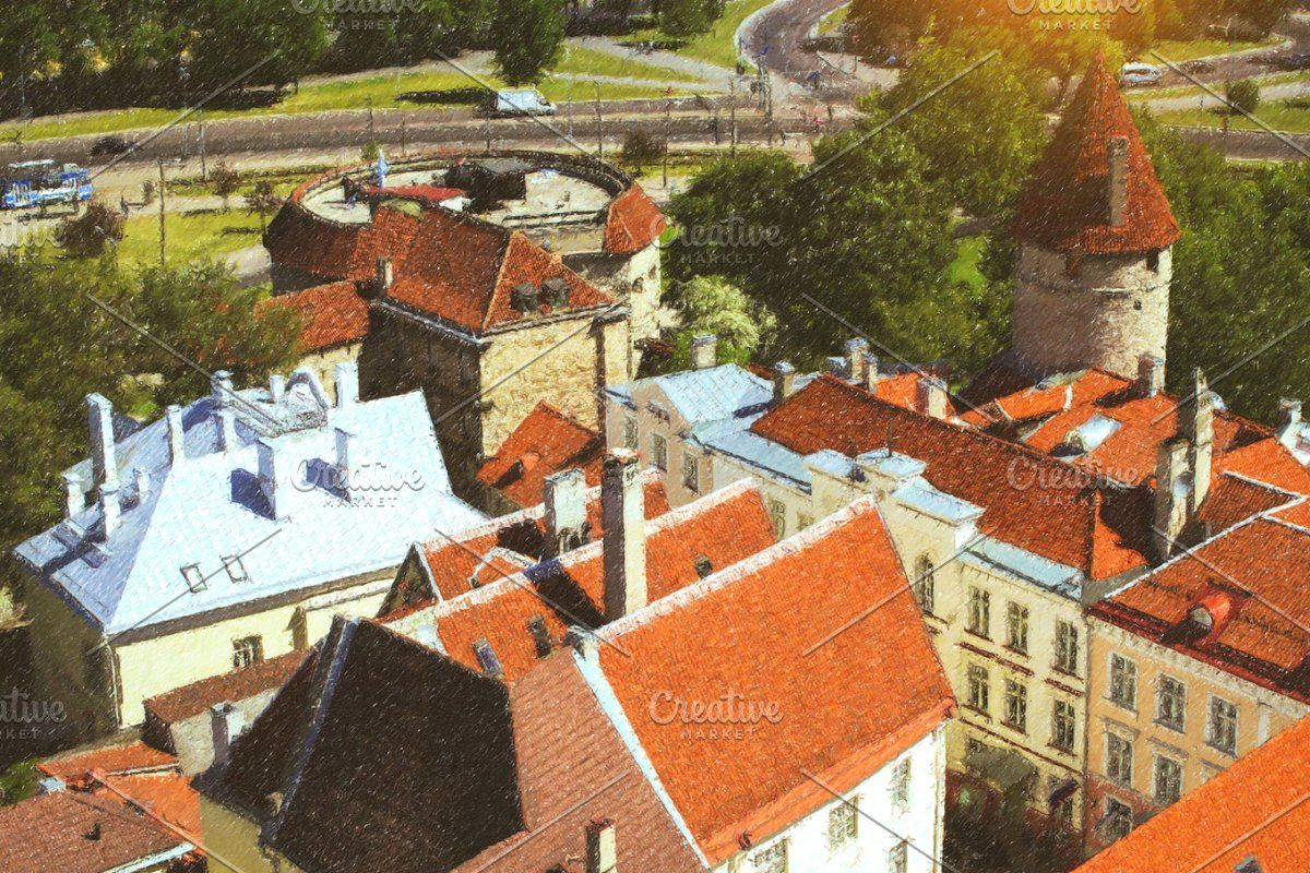 Red Roofs Of Tallinn In 2020 Red Roof Estonia Roof