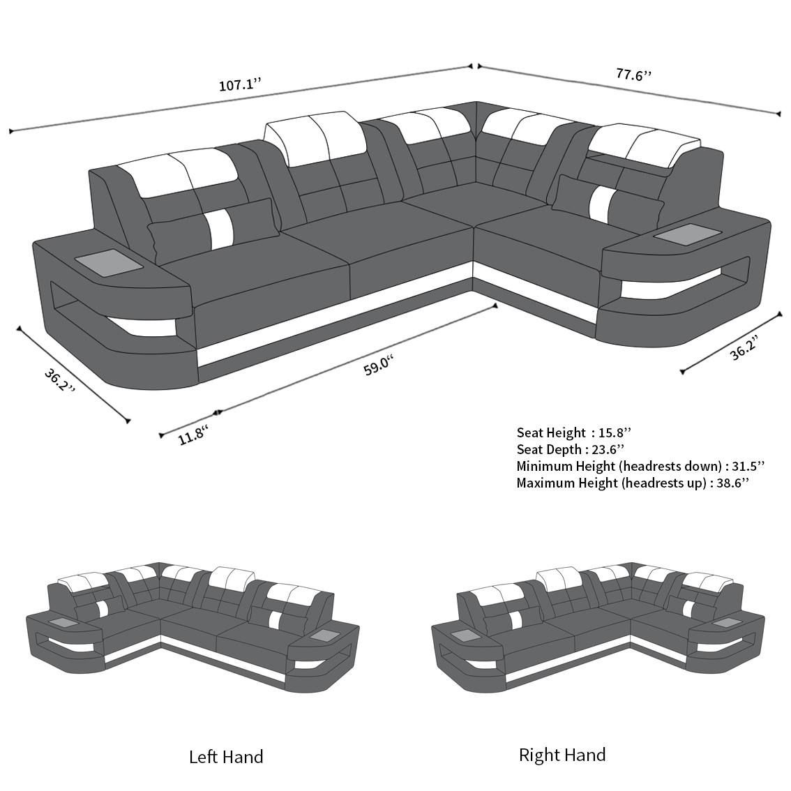 Leather Couch Denver L Shape Denver Yatak Odasi Deri
