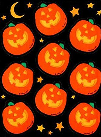 Custom & Decorative to Inch} 176 Bulk Pack of Mid-Size Stickers for Arts,  Crafts & Scrapbooking w/ Cartoon Little Halloween Night Time Jack O'  Lanturns ...