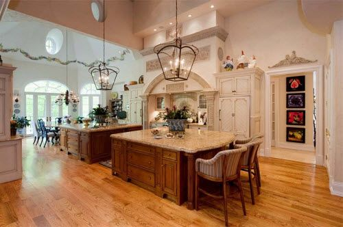 Kitchen Inside An Elegant Country Mansion In New Jersey