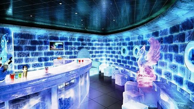 The SVEDKA Ice Bar On Norwegian Epic Ocean Liner Cruise Ship - Norwegian epic cruise