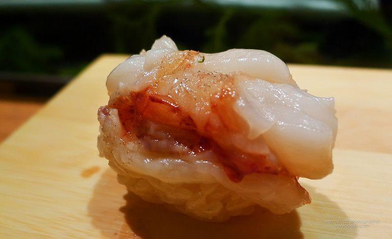 seared lobster sushi. YUM!!