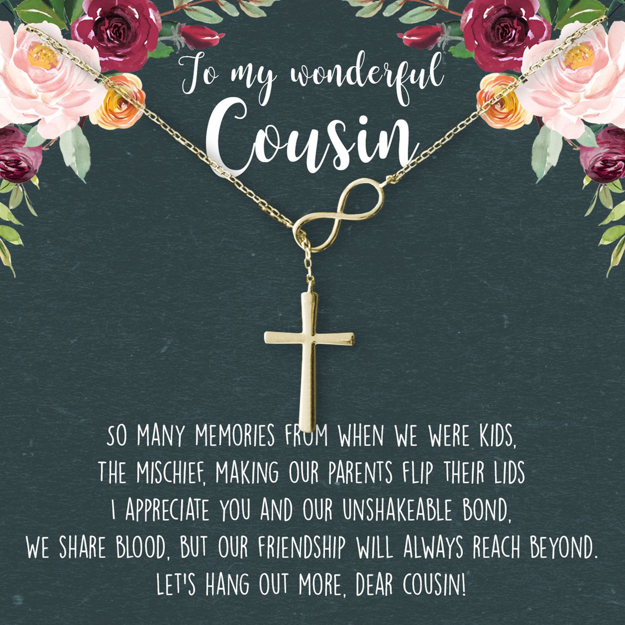 Cousins necklace mother in law gifts in law gifts