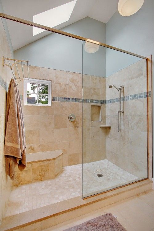 Love The Size And Towel Rack Inside The Shower For The
