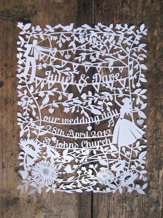 Samantha's Papercuts: Wedding Papercut