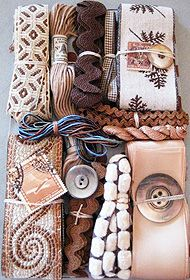 Ribbons, Threads, Buttons, Trims