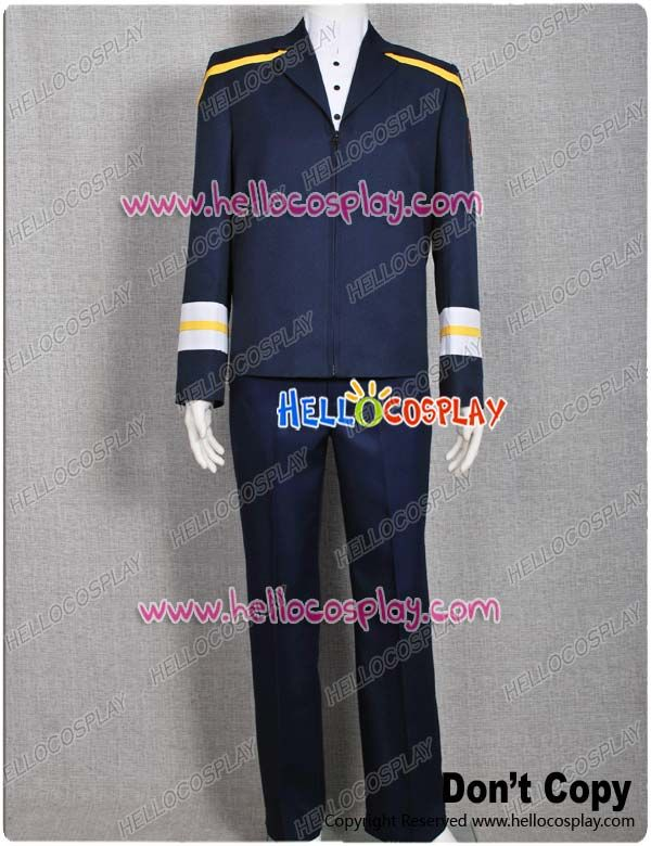 Star Trek Enterprise Archer Blue Uniform Costume Yellow Shoulder Straps