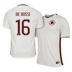 16-17 Roma White Away #16 Rossi Cheap Replica Jersey [H00141]