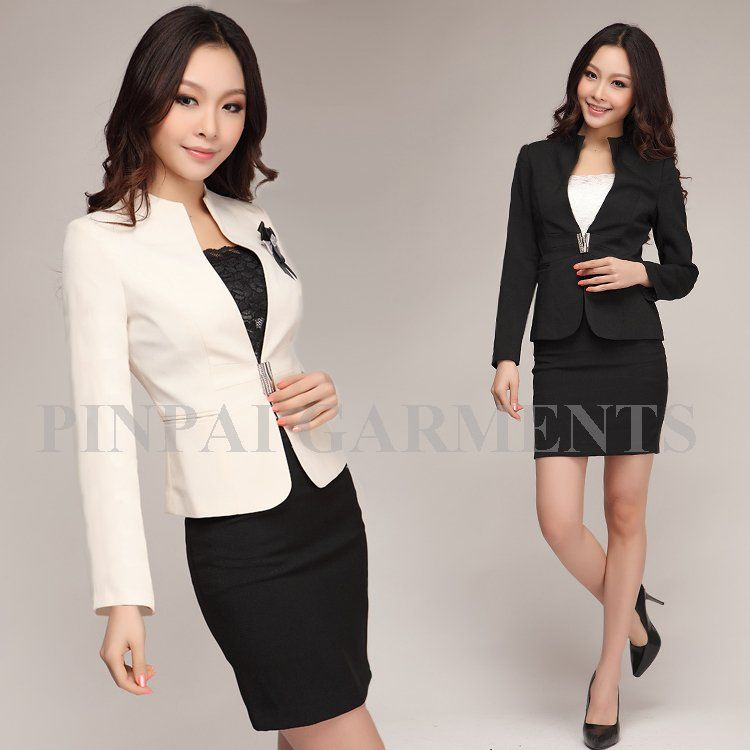 Easy care slim professional set work wear work clothes womens ...