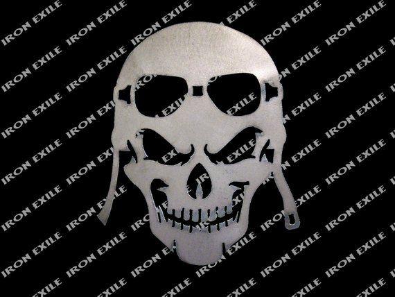 Skull 06 Metal Stencil Wall Art Garage Hot Rat Rod Motorcycle Chopper Biker