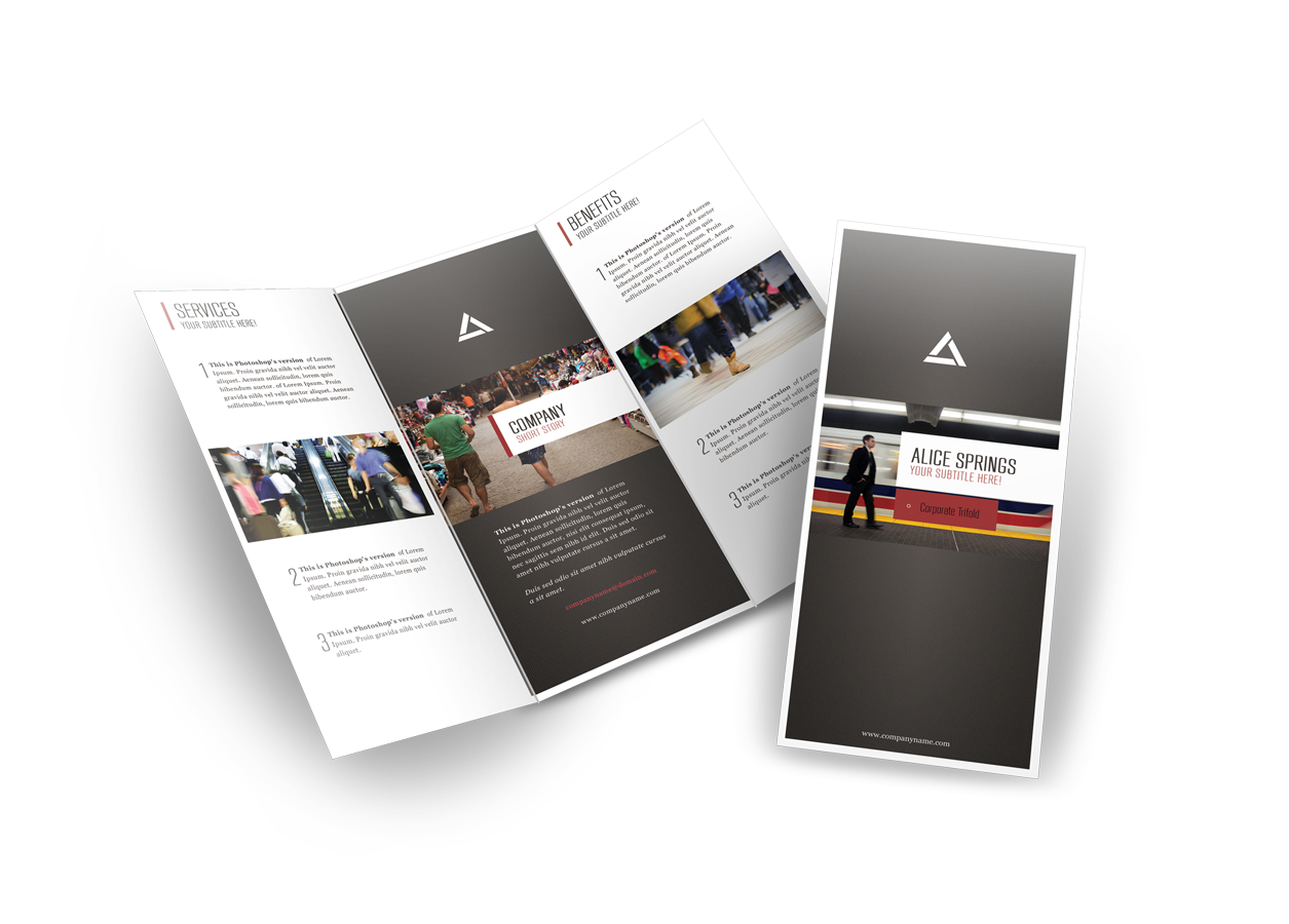 brochure templates any template free download printplace com