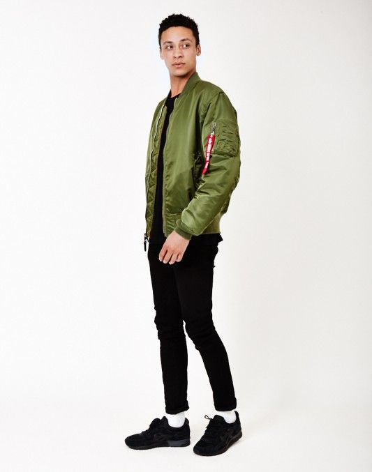 172276234877 Alpha Industries Classic MA1 Vintage Fit Bomber Jacket Sage Green ...