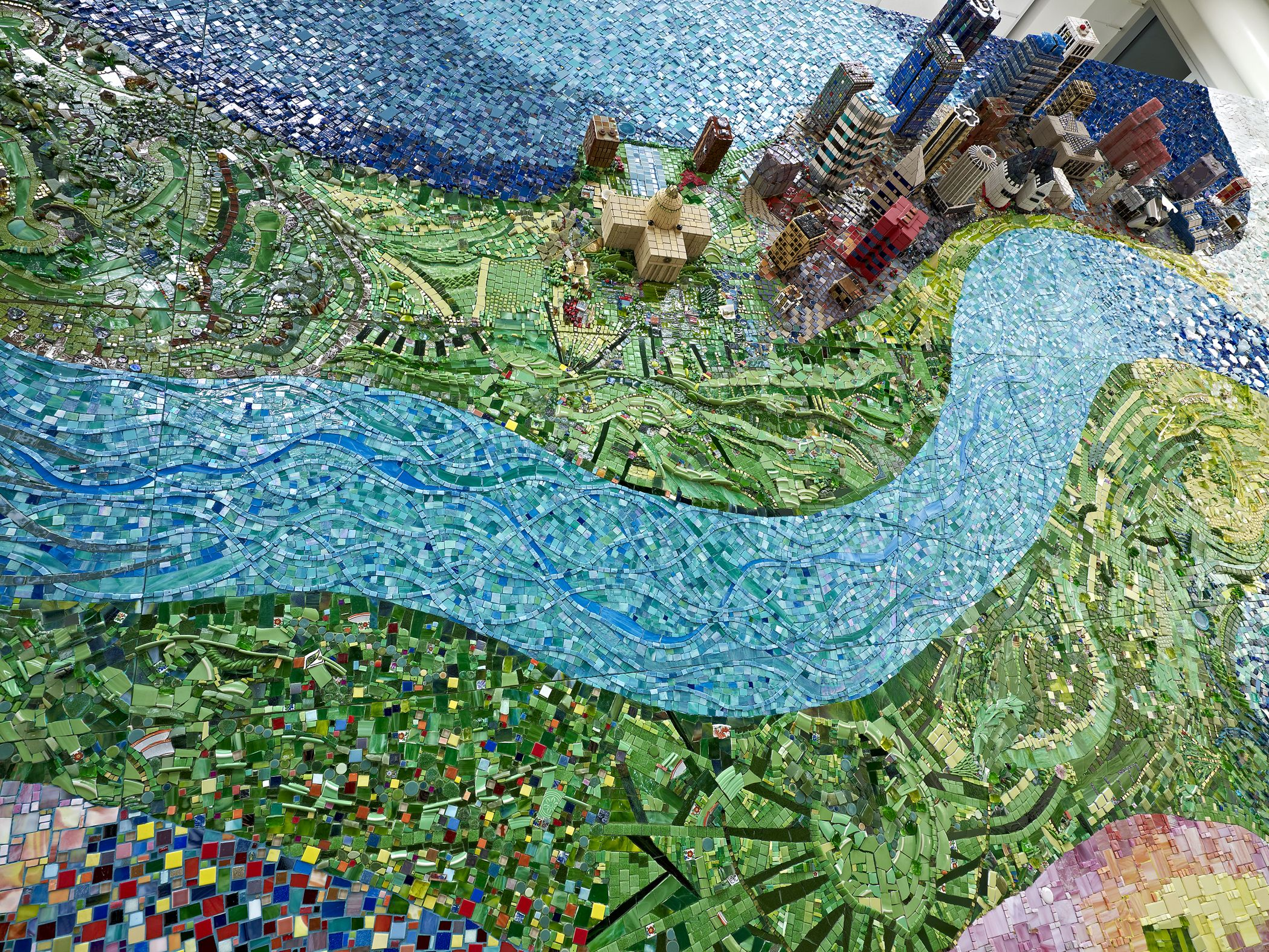 Mosaic application murals application wall panel application kitchen - Everything Flows Nothing Stands Still Erin Pankratz Smith