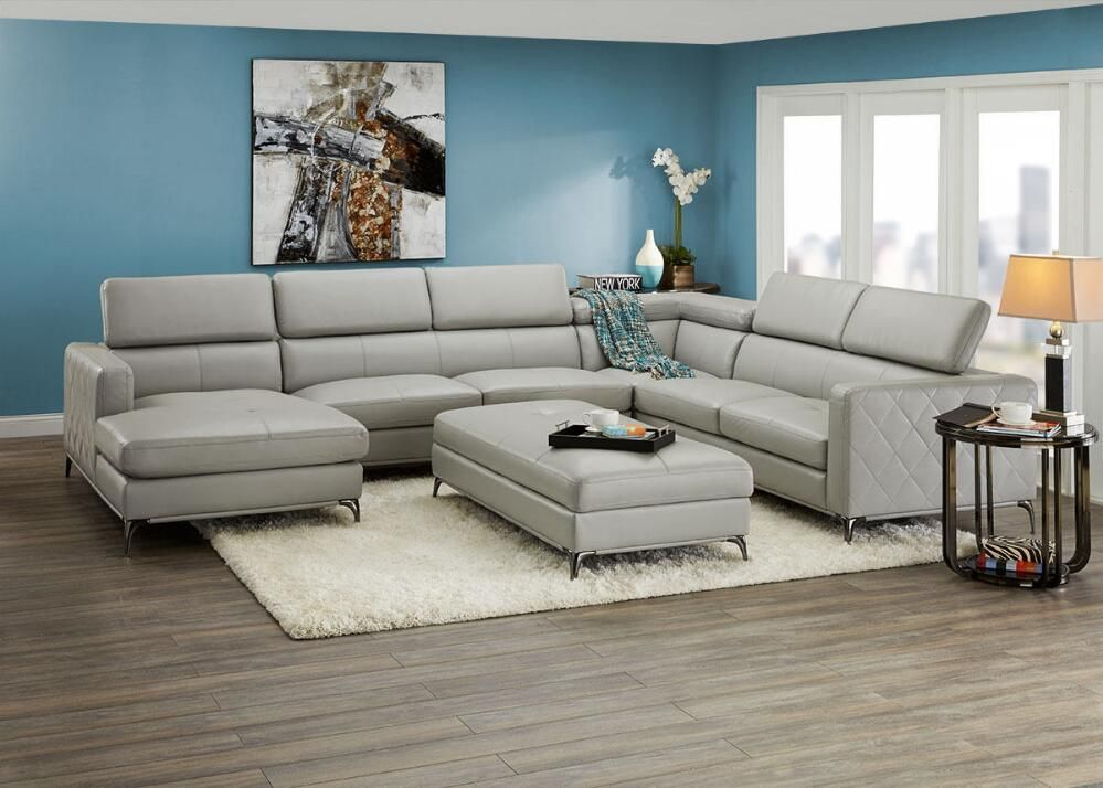 Cool Lola Platinum 4 Pc Sectional Reverse Sofas Living Caraccident5 Cool Chair Designs And Ideas Caraccident5Info