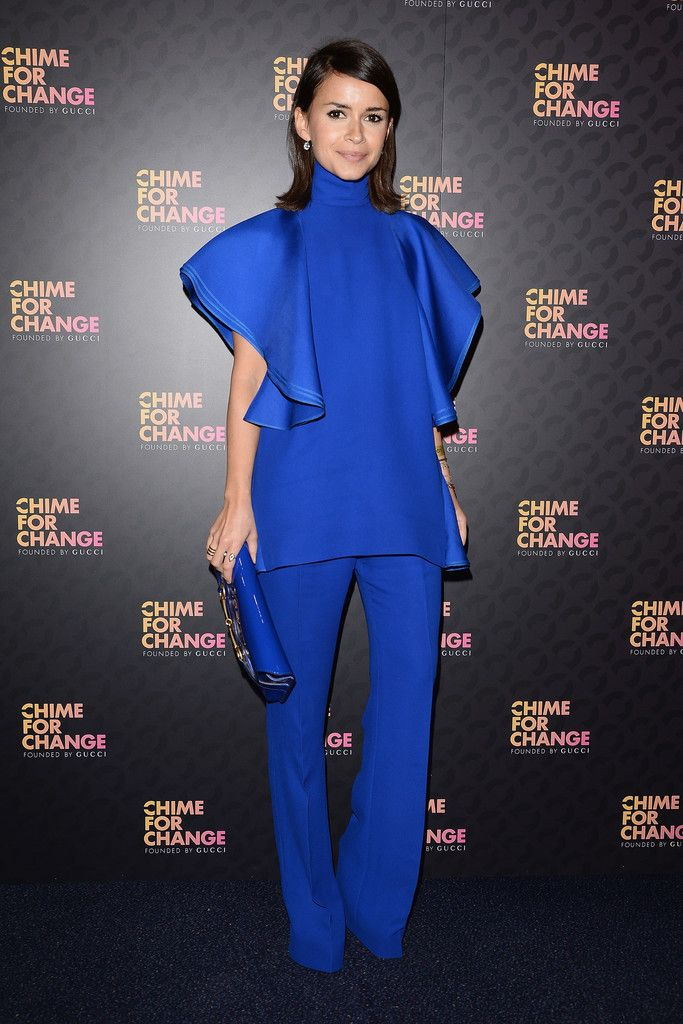 """Miroslava Duma  arrives at the Royal Box photo wall ahead of the """"Chime For Change: The Sound Of Change Live"""" Concert at Twickenham Stadium ..."""