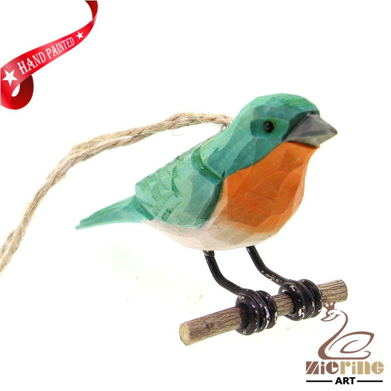 New listing! Hand-carved wooden parrot painted decorative wall carvings ZR10055 #ZL #Ornament