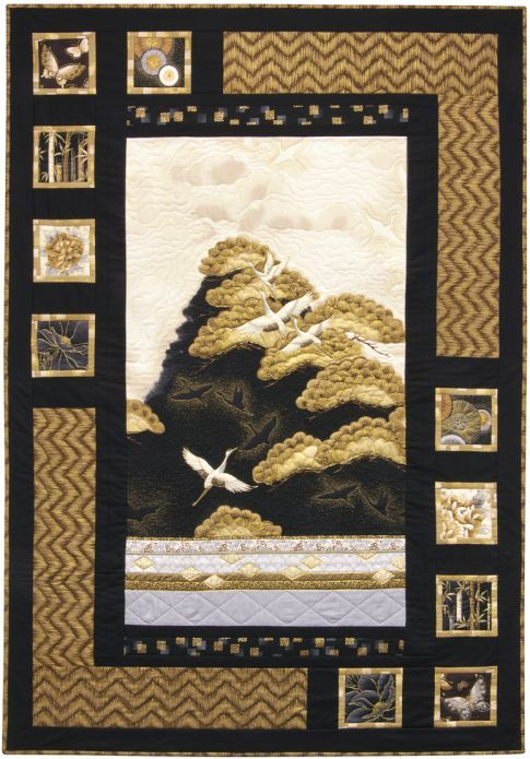 Oriental Harmony quilt, Antique color story. Made with Imperial ... : harmony quilt pattern - Adamdwight.com