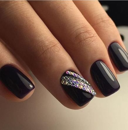 nails matte design rhinestones 25 new ideas  trendy nail