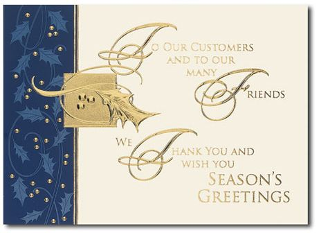 Business holiday cards customer thanks card link http occasionsinprint