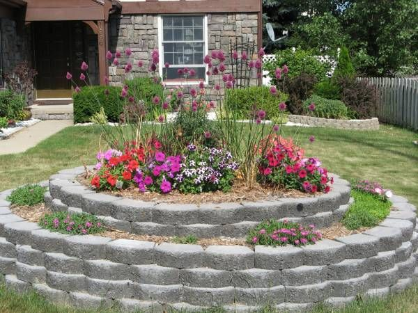 circular flower garden designs Big Round Raised Bed | Gardens in Poor Climate | Raised