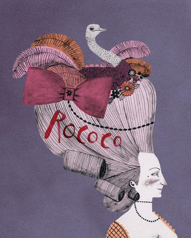 rococo - Lucy Panes Illustration