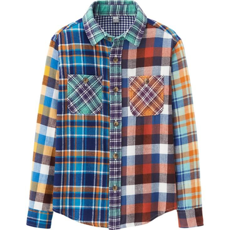 13381057 KIDS FLANNEL CHECK LONG SLEEVE SHIRT | UNIQLO | Loki in 2019 | Long ...