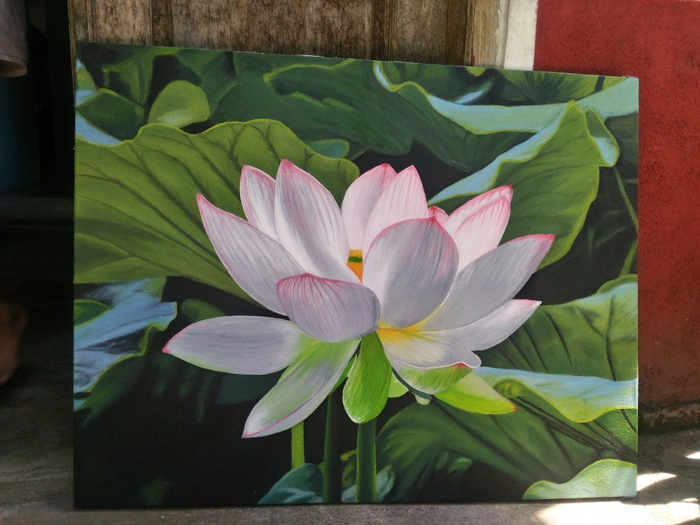 Pin By Mb On Maria S Looks Lotus Flower Painting Lotus Flower Pictures Flower Painting