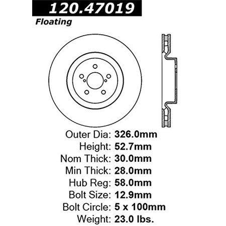 GoPowerSports 6 brake disc