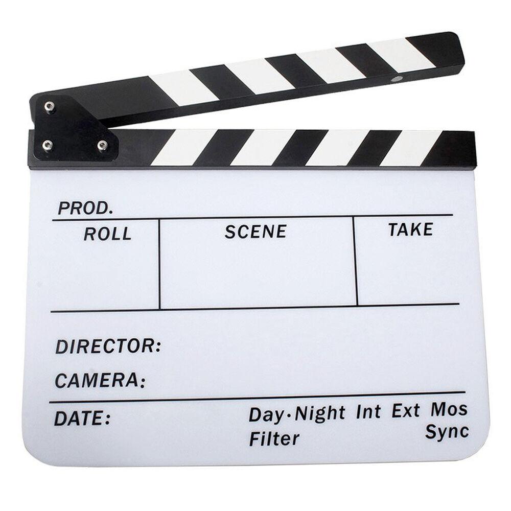 Acrylic Clapboard Dry Erase Movie Clapper Board Slate 29 8 X 24 5cm H8a7 For Sale Online Clapboard Dry Erase Video Film
