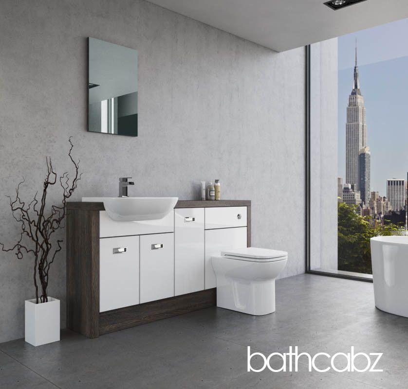 Bathroom Fitted Furniture White Gloss Mali Wenge A1 1500mm Bathcabz Ebay Bathroom Furniture Fitted Bathroom Furniture Bathroom Furniture Vanity