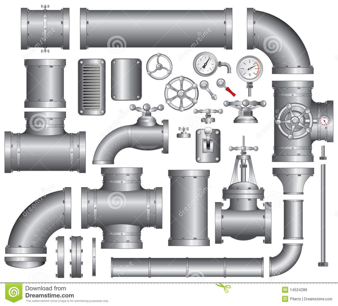 Pipes Royalty Free Stock Photos Image 14524288 Scale