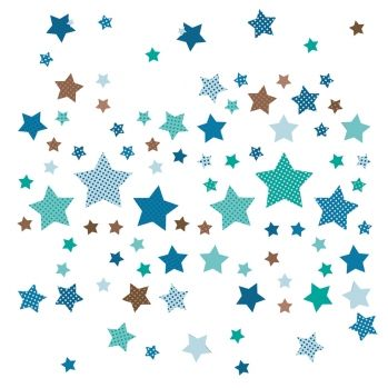 Amazing Kinderzimmer Wandsticker Sterne mint taupe teilig