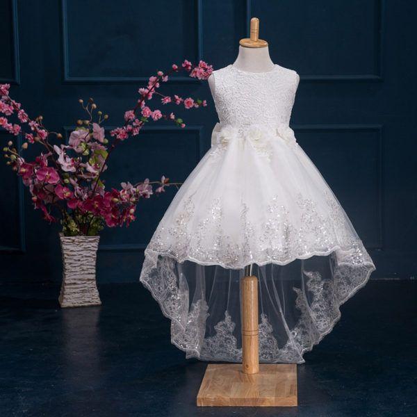 4acc65b9a86 Hualong Sleeveless Trailing Lace Flower Girl Dresses  fashion  style  love   shopping  wedding  dress  lace  white  whitedress  floral  flowergirl