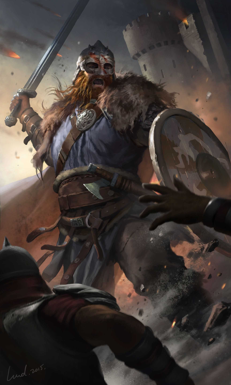Artstation Norse Soldier Li Wenda Viking Character