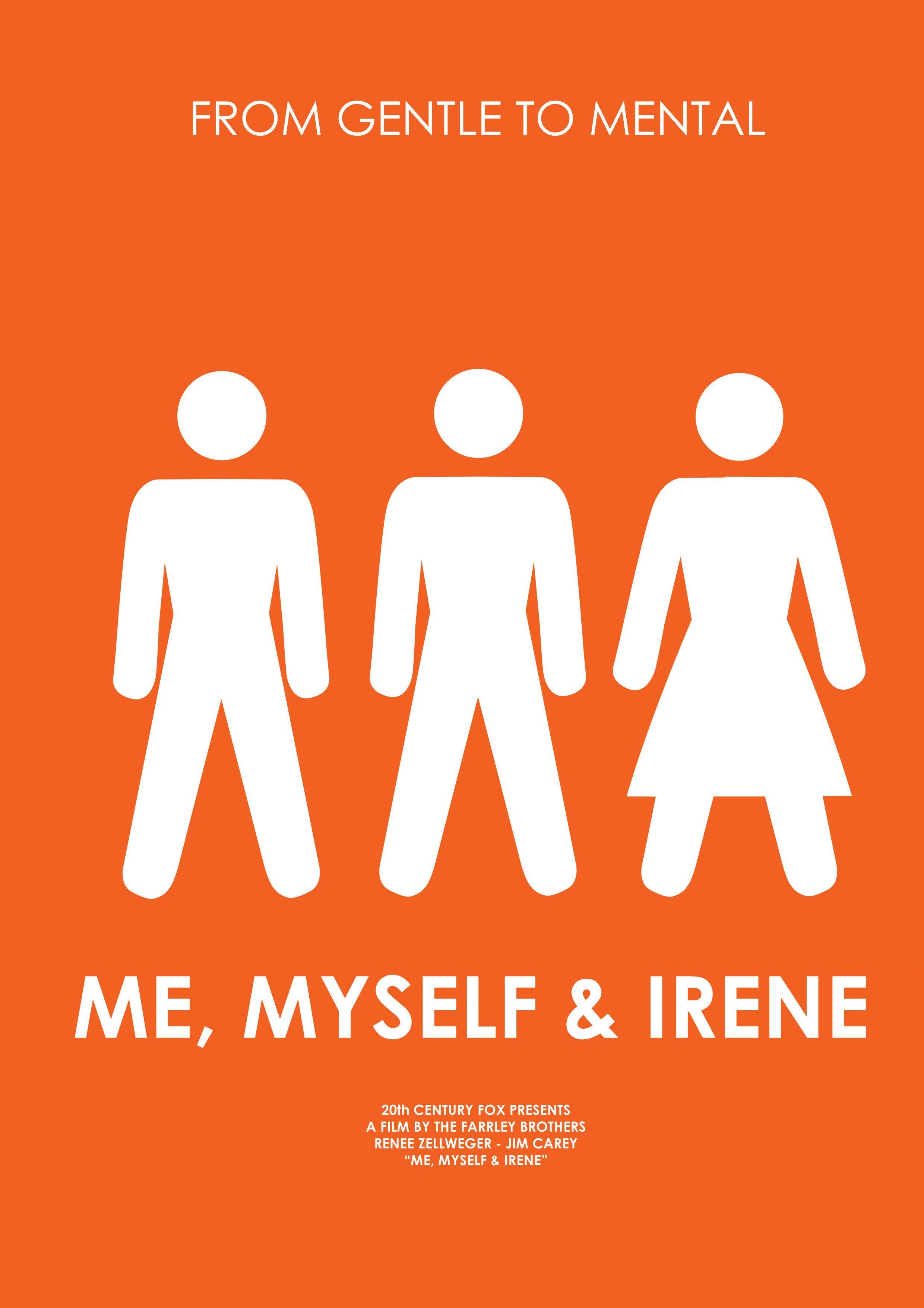 Irene Myself Me Movie Posters Minimalist Alternative Movie Posters Film Posters Minimalist