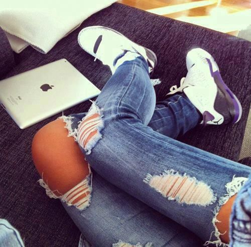 3876bf4aee62 Ripped Jeans and Air Jordans - Love  3