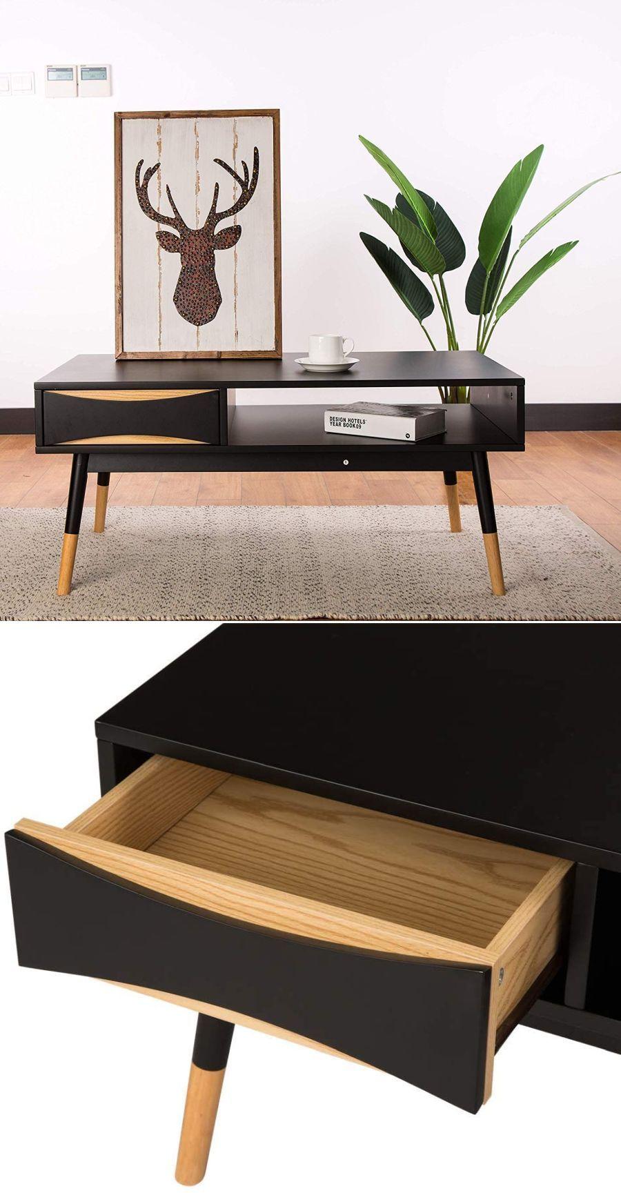 Modern Oslo Black Coffee Table In 2020 Coffee Table Cool Coffee Tables Coffee Table With Storage [ 1729 x 900 Pixel ]