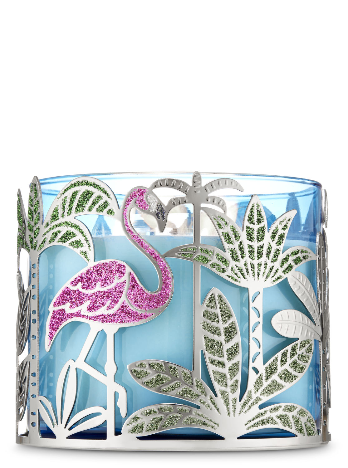 BATH /& BODY WORKS BLUE IRIDESCENT SEA TURTLE MAGNET LARGE 3 WICK CANDLE DECOR