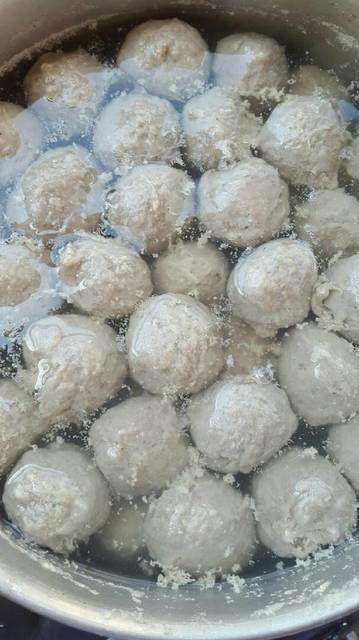 Resep Bakso Sapi Kenyal Enak Tanpa Baking Powder By Xanderskitchen Resep Masakan Natal Ide Makanan Resep