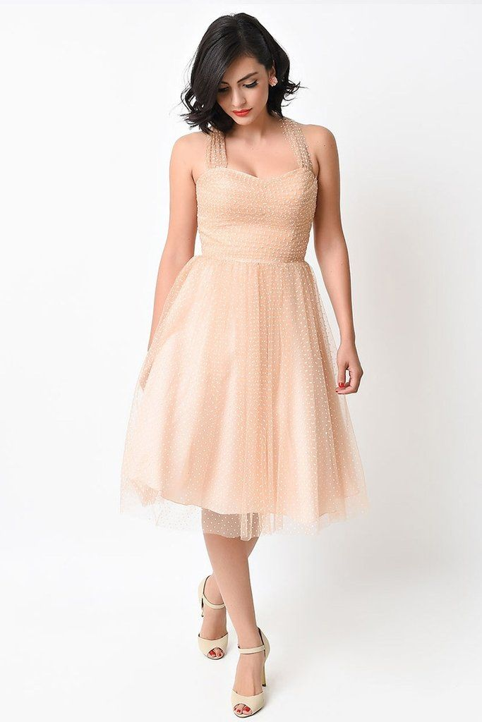 ef7145bc02d Retro Vintage Cocktail Dress with sheer cap sleeves in pastel colors Unique  Bridesmaid Dress XS - 4X