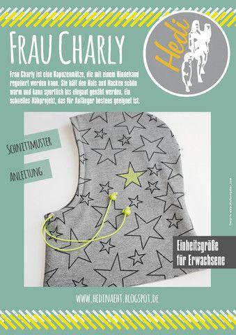 Kapuzenmütze Frau Charly von Hedi bei ebookeria * DIY Schnittmuster ...