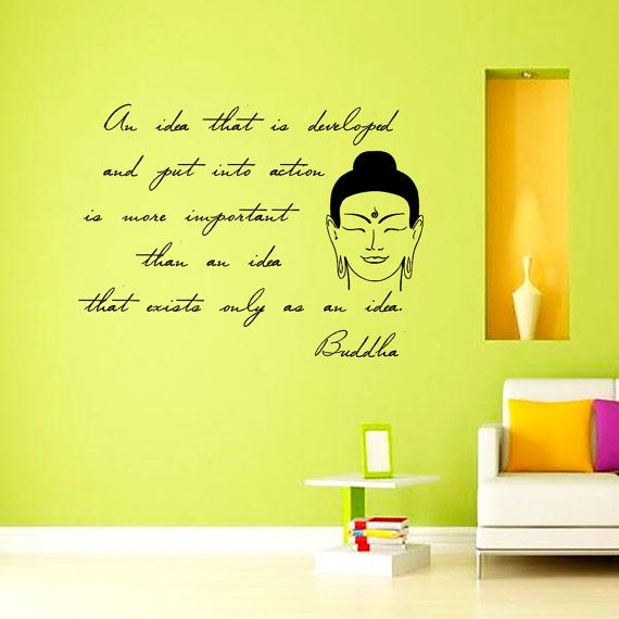 Buddha Quote Wall Decal Idea Yoga Vinyl By Cozydecal 19 99