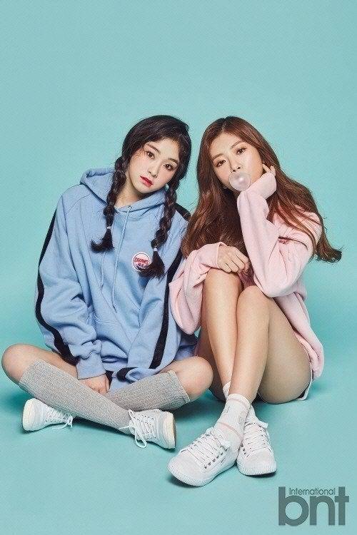 Gahyeon and JiU