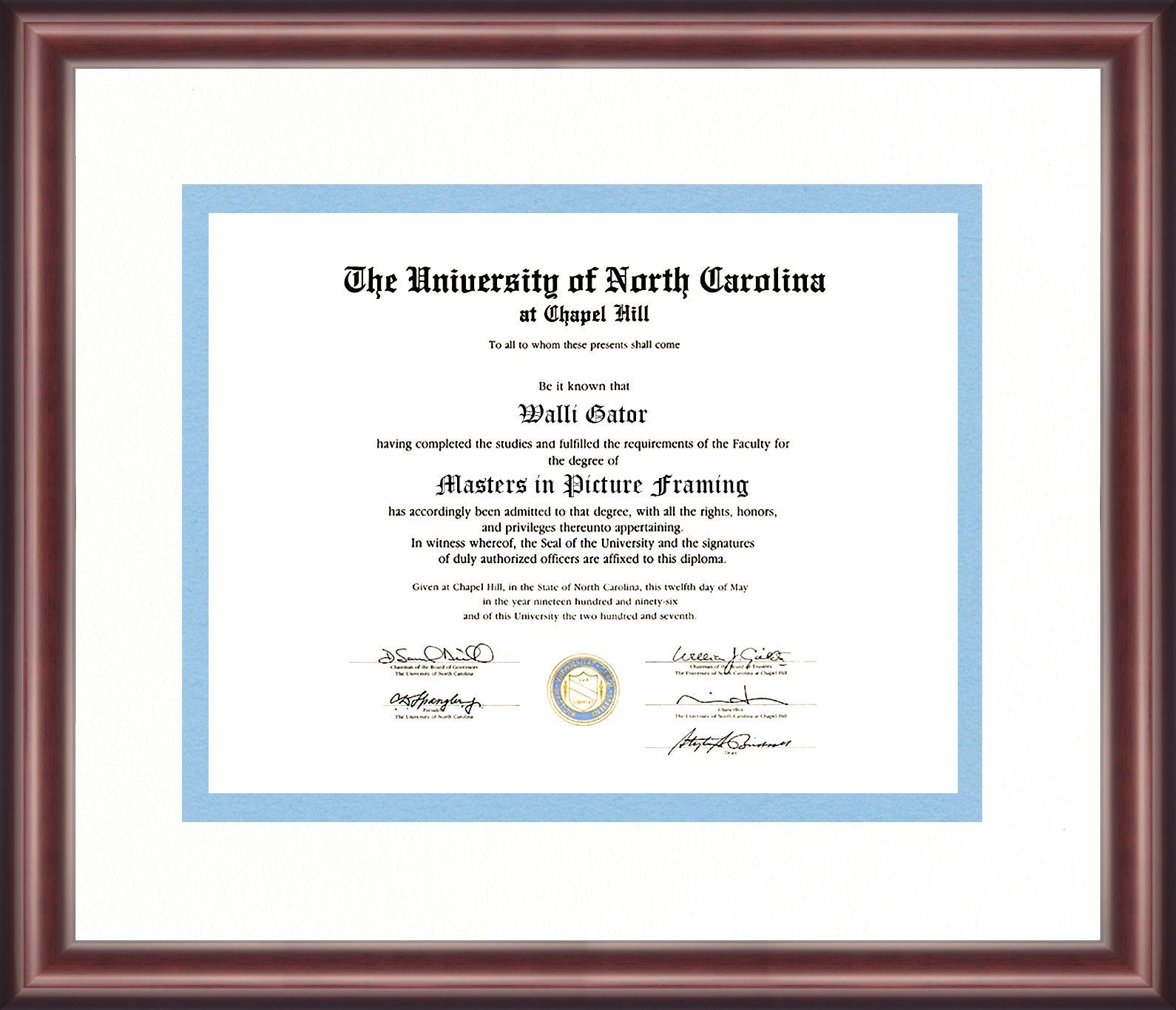 University Of North Carolina Diploma Frame Talking Walls