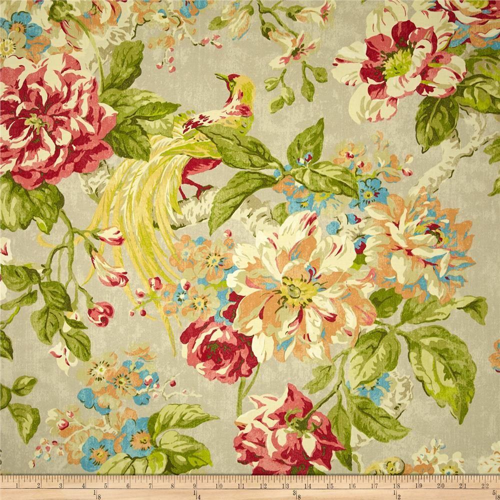 Waverly Floral Engagement Twill Poppy Fabricdotcom