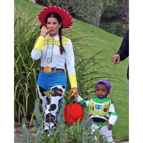 Sandra Bullock and son Louis!